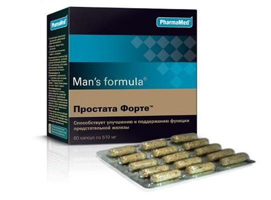 Простата Форте – лекарство для профилактики и лечения простатита в домашних условиях